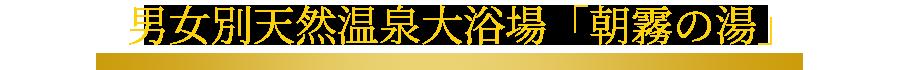 男女別天然温泉大浴場「朝霧の湯」(13F)